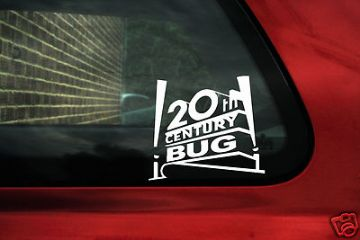 '20th century Bug' sticker / Decal. ideal for VW NEW Beetle 1.8t, Cup / classic Beetle